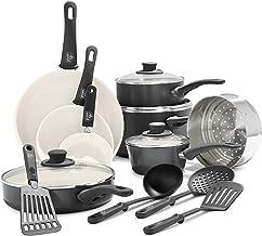 GreenLife Soft Grip 16pc Ceramic Non-Stick Cookware Set, Black - CC001021-001