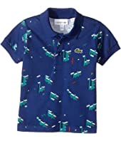 Lacoste Kids - Short Sleeve Polo with All Over Graphic Croc (Infant/Toddler/Little Kids/Big Kids)