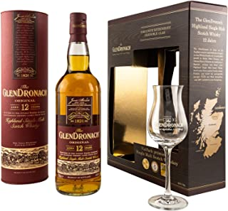 The GlenDronach - 12 Jahre - Geschenkset mit Ritzenhoff Tasting Glas - Highland Single Malt Scotch Whisky - 1 x 0.7 L