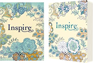 Tyndale NLT Inspire Bible (Softcover, Aquamarine): Journaling Bible with Over 400 Illustrations to Color, Coloring Bible w...