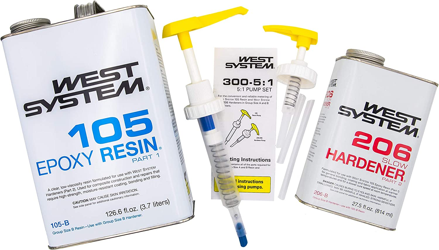 West Now on sale System 105-B Epoxy Resin 206-B Slow Harde Bundle with Superior