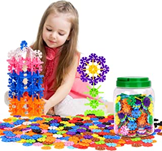Zooawa [500 Pcs] Building Blocks, Creative Interlocking Construction Tiles Kit for Kids and Toddlers Over 3 Years Old - Colorful