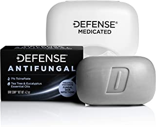 Defense Antifungal Medicated Bar Soap | Intensive Treatment for Athlete's Foot Fungus and Fungal Infections of The Skin (O...