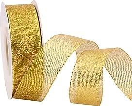 "25 Yards Glitter Metallic Ribbon 1"" Wide Ribbon Valentine's Day, Sparkly Fabric Ribbon Gift Ribbon Thin Ribbon for Gift Wr..."