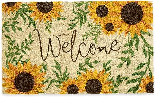 DII Sunflower Welcome Seasonal Doormat 18x30