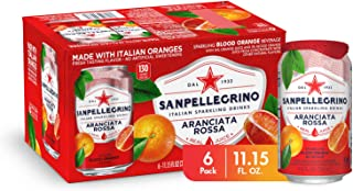 Sanpellegrino Italian Sparkling Drink, Blood Orange, 11.15 Fluid Ounce, Cans (Pack of 6)