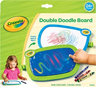 My First Crayola - Tabla doble para garabatos, tableta de dibujo, juguete infantil, regalo