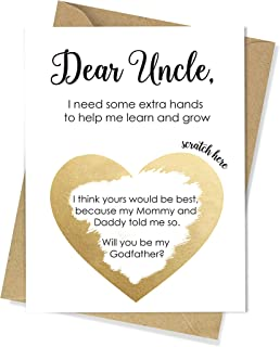 XOXOKristen Godfather Proposal Scartch Off Card, Uncle Card Will You Be My Godfather, Gift for Godparent, Card for Godparents, Baptisim, First Communion, Christening Invitation