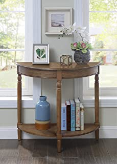 Convenience Concepts 6042182SDFTW French Country Entryway Table, Driftwood,