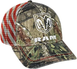 Ram Mossy Oak Country Americana Patriotic Hat / Cap