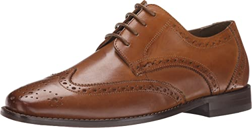 Florsheim Hommes's Montinaro Wingtip Robe chaussures Lace Up Oxford, Oxford, Saddle Tan, 8.5 3E US  magasin de gros