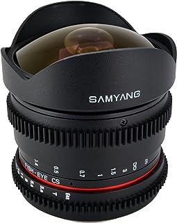 Samyang Cine SY8MV N 8mm T3.8 Cine for Nikon Video DSLR with Declicked Aperture,Black
