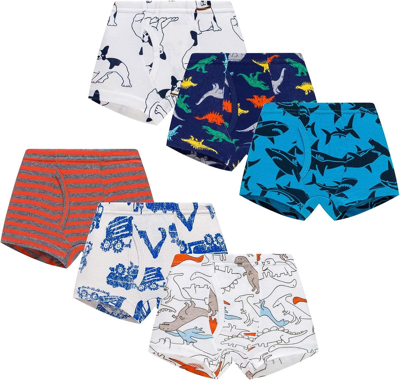 Winging Day Little Boys' Cotton Brief Soft Underwear Multipack