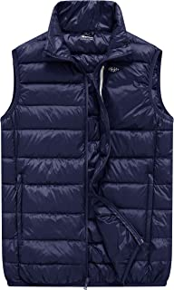 Wantdo Men's Packable Travel Light Weight Insulated Down Puffer Vest with Pocket