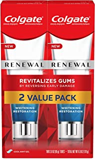Sponsored Ad - Colgate Renewal Gum Toothpaste for Gum Health, Teeth Whitening Restoration, Cool Mint Gel - 3 ounce (2 Pack)