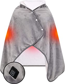 MeillyHoomi 電気毛布 USB電気ブランケット ひざ掛け 肩掛け 肌触り良い ふわふわ 丸洗い可 冷え対策 3段階調温 家内 オフィス (グレー)