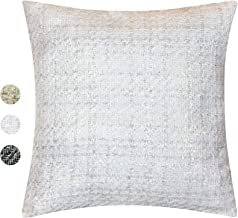 Contempo Lifestyles Tweed Decorative Pillow Cover - Throw Pillow Cover with Gold Metallic Finish - Cottage Home Décor Pill...