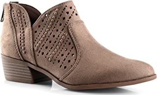 Best hollow out low heel cutout booties Reviews