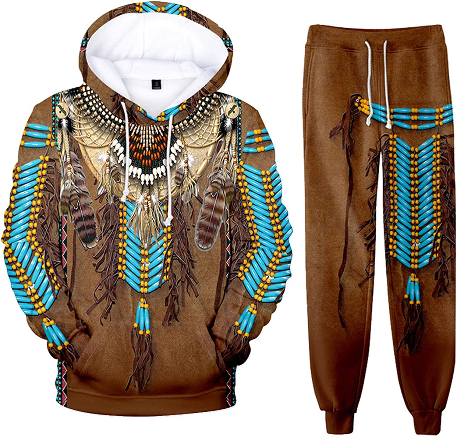SIAOMA Al sold out. Native Finally resale start American Hoodie Sweatpant Indians Suit Tracksui 3D