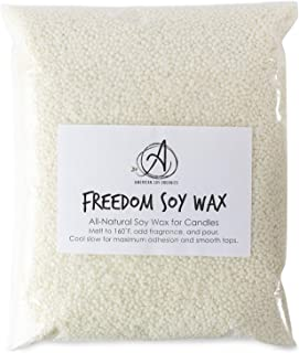 American Soy Organics- 10lb of Freedom Soy Wax Beads for Candle Making – Microwavable Soy Wax Beads – Premium Soy Candle Making Supplies