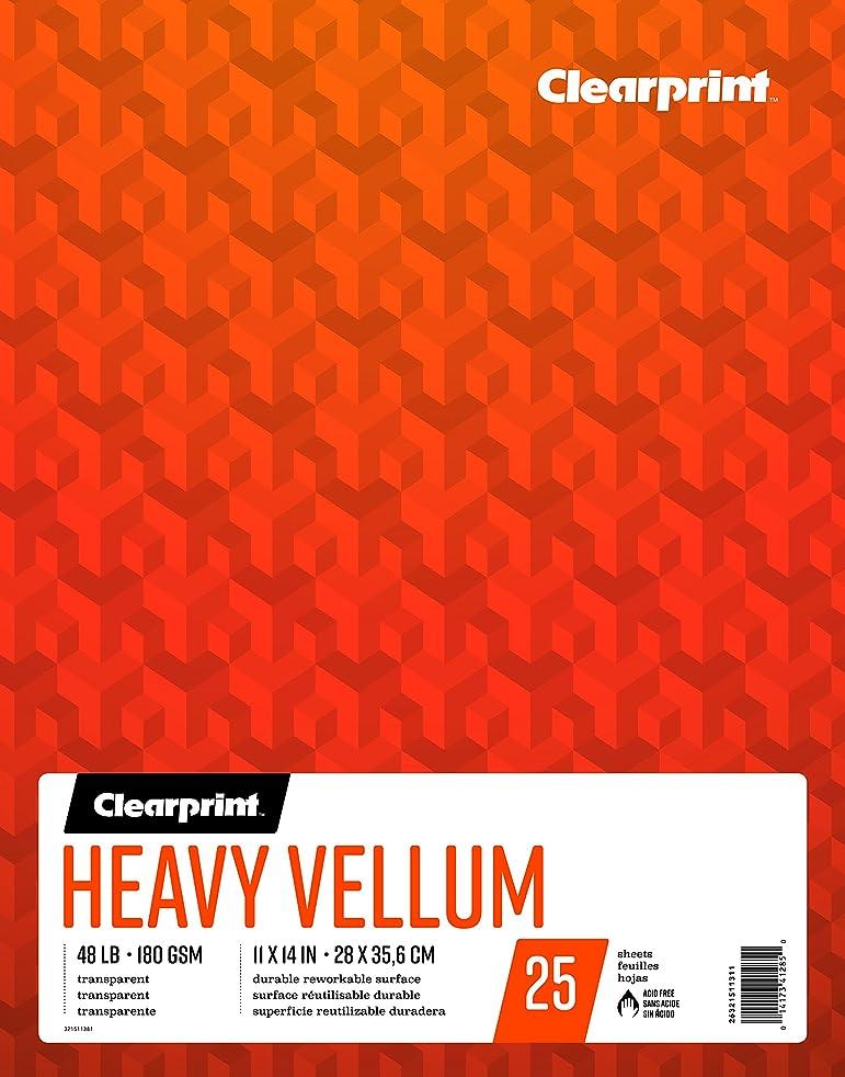 Clearprint Heavy Vellum Pad, 48 LB, 180 GSM, 11 x 14 Inches, 25 Sheets Per Pad, 1 Each (26321511311)
