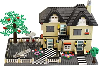 Dimple Family House / Family Villa Kids Building Block Set Toy (816 Pieces) with Yard, Garden, Figurines and Other Fun Assorted Pieces