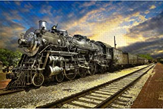 Jigsaw Puzzles 1000 Pieces for Adults - Train Landscape - for Adults Teens Educational Toys Gifts(29.5x19.7 Inches)