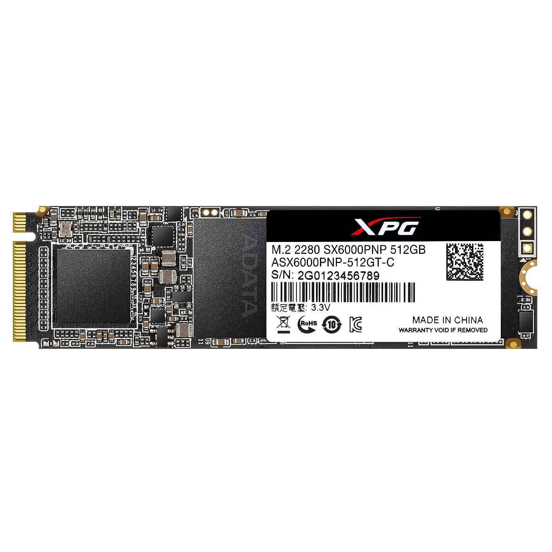 オプションリングバック土砂降りADATA Technology XPG SX6000 Pro PCIe Gen3x4 M.2 2280 SSD 512GB ASX6000PNP-512GT-C