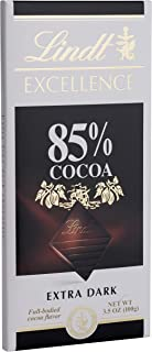 Lindt Excellence Extra Dark Chocolate 85% Cocoa, 3.5-Ounce Packages