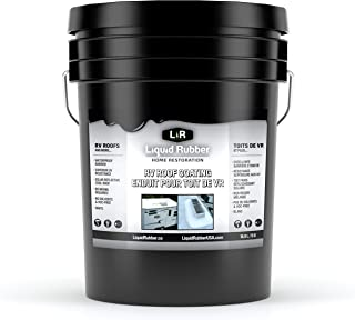 Liquid Rubber RV Roof Coating - Solar Reflective Sealant - Waterproof - Easy to Apply - Brilliant White, 5 Gallon