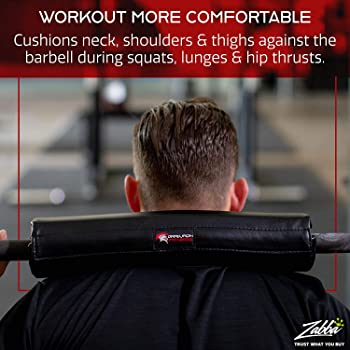 Dark Iron Fitness 15 Inch Extra Thick Barbell Neck Pad - Shoulder Support for Weight Lifting Crossfit Powerlifting an...