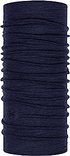 Buff Night Blue Melange Midweight Merino Wool Tuch