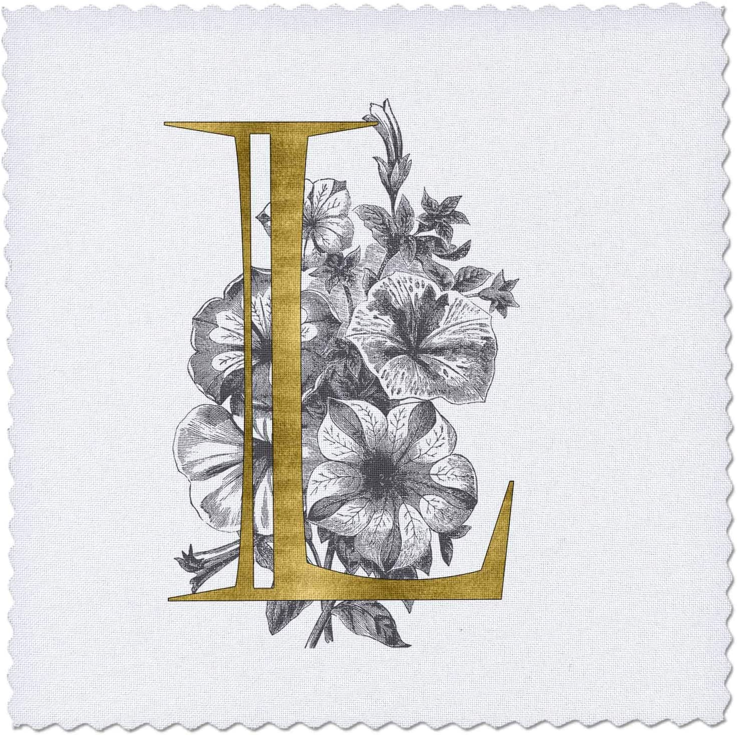 3dRose Elegant Image Of Long Beach Mall Gold Monogram Initial Max 74% OFF With L Black W and