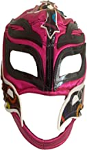Rey Misterio Lucha Libre Mexicana Luchador Mexican Wrestling Mask Costume Adult Size, Pink, One Size Rey Misterio Rosa con Circulos