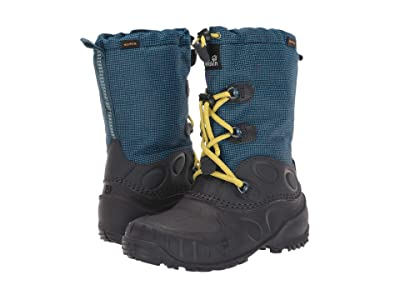Jack Wolfskin Kids Iceland Waterproof High (Toddler/Little Kid/Big Kid) (Blue/Lime) Boys Shoes
