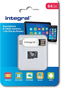 Integral microSDXC Class Memory Card for Smartphones and Tablets MB s ...