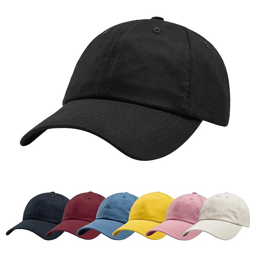 ZOWYA Classic Cotton Plain Baseball Cap-Dad Hat-Polo Cap-Casual Cap-Unisex-Adjustable Size-Unstructured-Soft