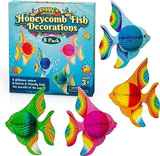 8pcs Plastic Starfish Figure Luau Tropical Beach Party Goody Loot Bag Favor