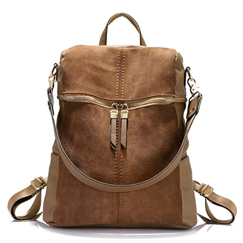 Backpack Shoulder Bag Purse Girls School Bag Casual Nubuck +Synthetic Leather Collage Style
