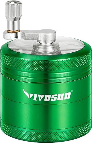 "discount VIVOSUN Herb Spice online Grinder 2.2"" 4 Pieces Aluminium Hand Crank Grinder with Pollen online Scraper outlet online sale"