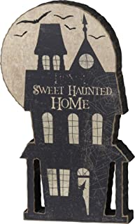 Primitives by Kathy Chunky Shelf Sitter, 4.75 x 8-Inch, Sweet Haunted Home