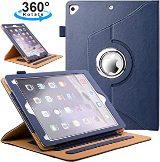 ZoneFoker New iPad Mini 5 7.9 inch 2019 Tablet Leather Case, Auto Sleep/Wake 360 Degree Rotating Multi-Angle Viewing Folio Stand Cases with Pencil Holder for iPad Mini5 5th Generation - Blue