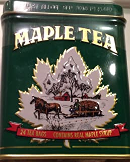 Maple Tea, 24 Tea Bags in a Decorative Metal Tin. A Fantastic Holiday Gift.