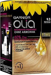 Garnier Olia Haarkleuring, zeer helder goudblond 9,3, kleuring voor het haar, bevat 60% bloemenoliën voor intensieve kleur...