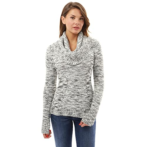 7240d024d79c PattyBoutik Women's Scoop Neck with Infinity Scarf Marled Jumper