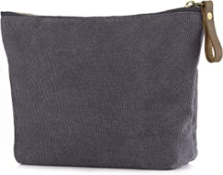 SMRITI Canvas Large Makeup Bag Pouch Purse Cosmetic Organizer for Women