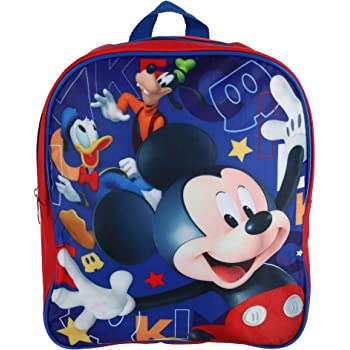 3D Cartoon Mickey Mouse Kids Boys Backpack With Reins Rucksack Lunch Bags Girls