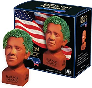 Chia Barack Obama Decorative Pottery Planter, Easy to Do and Fun to Grow, Novelty Gift, Perfect for Any Occasion
