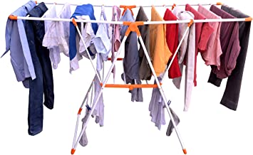 RITASA Butterfly (Sun) Steel Cloth Drying Stand for Balcony Foldable Space-Saving Laundary Rack for Indoor and Outdoor Application