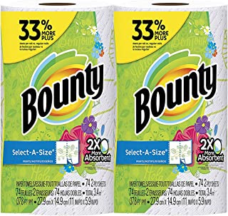 Bounty Select-A-Size, 2x More Absorbent 2-ply 74 sheets Paper